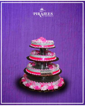 4 Tier Cake Pink